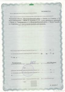 Лицензия ИП оборотная сторона
